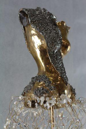 Estella Fransbergen - 24 Karat White & Yellow Gold Overglaze Clay Torso