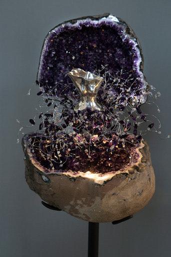 Estella Fransbergen - Amethyst Geode with Bronze Torso