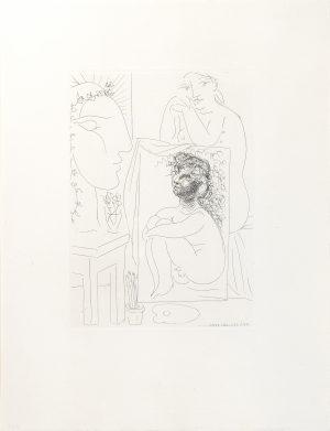 Picasso - Au Modele Accoude Sur un Tableau