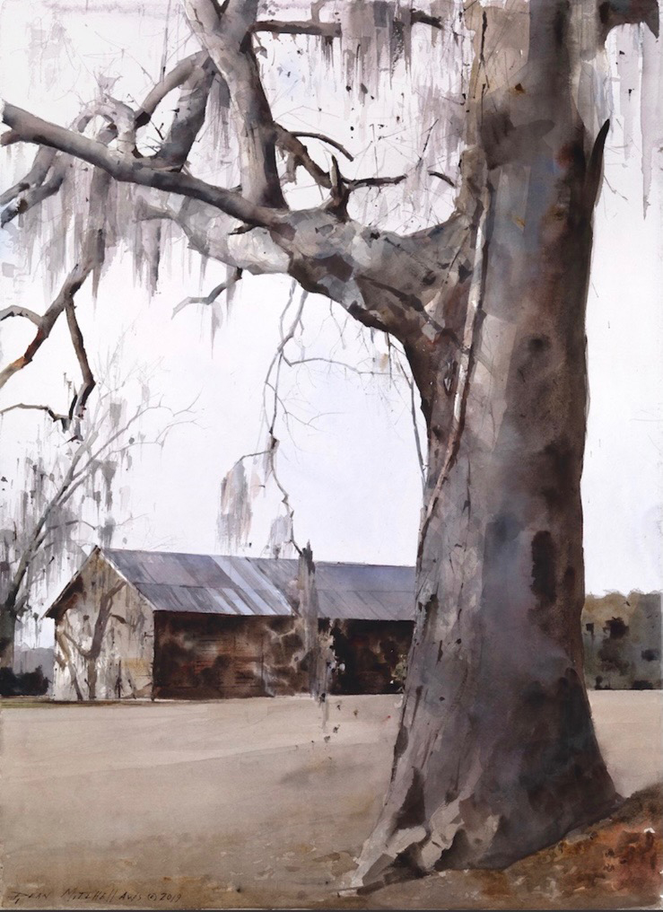 dean mitchell original painting-watercolor