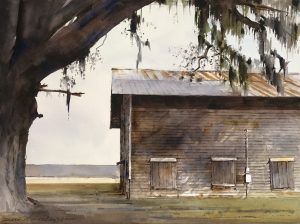 Dean Mitchell - Barn and Spanish Moss