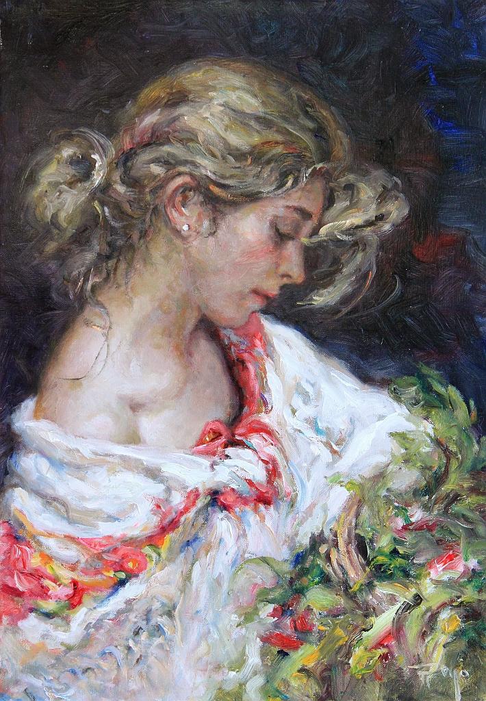 Royo Original Oil Painting