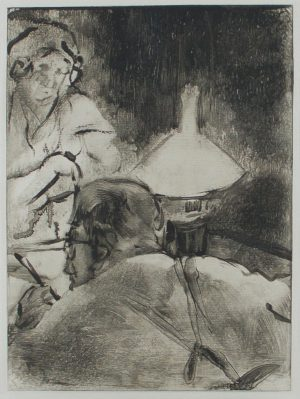 Edgar Degas - Reading by Lamplight
