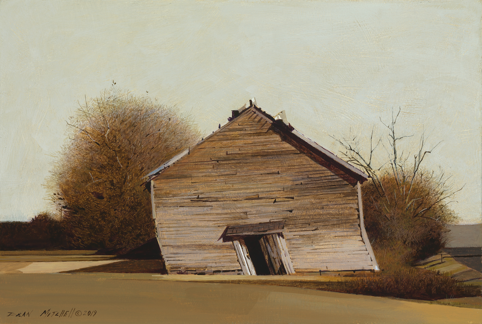Dean Mitchell - Tilted Tobacco Barn