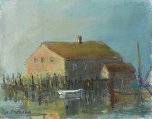Anne Packard - Wharf with Dory