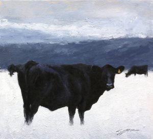 Matthew Cutter - Matthew J. Cutter Original Winter Cows