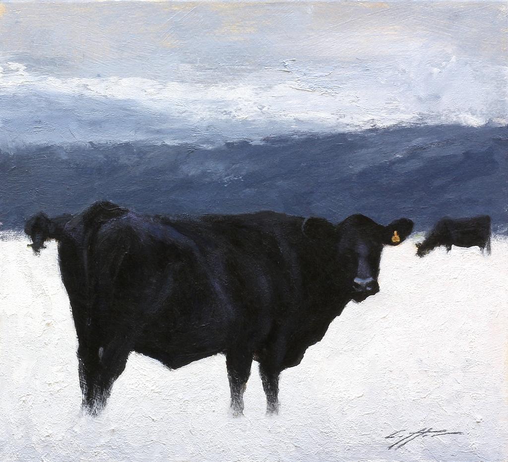 Matthew J. Cutter Original Winter Cows