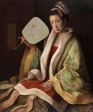 Tang Wei Min - Woman with Fan
