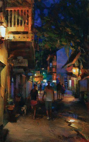 Dmitri Danish - Night Street, St.Augustine