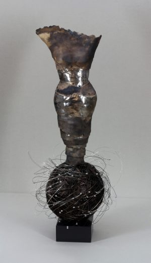 Estella Fransbergen - Sawdust Fired Clay Torso with White Gold