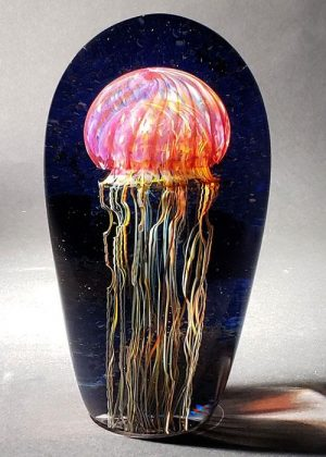 Richard Satava - Gold Ruby Jellyfish Seascape