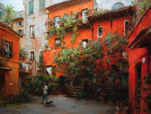 Dmitri Danish - Old Courtyard