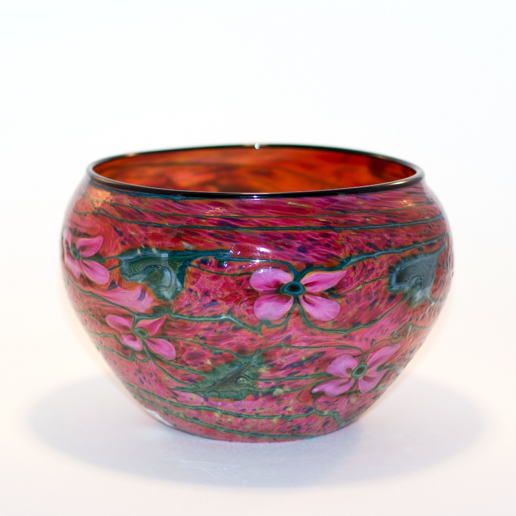 Dark Gold Ruby Cypriot Bowl