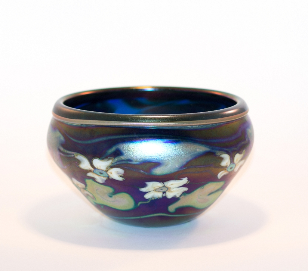 Irridescent Cobalt Blue Bowl