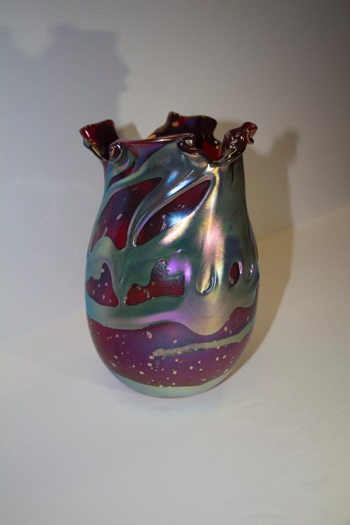 Selenium Red Lava Vase
