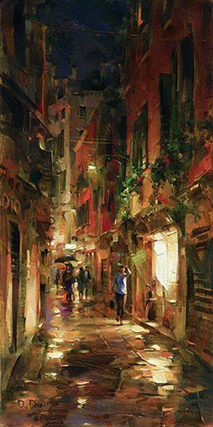 Dmitri Danish - Street at Night