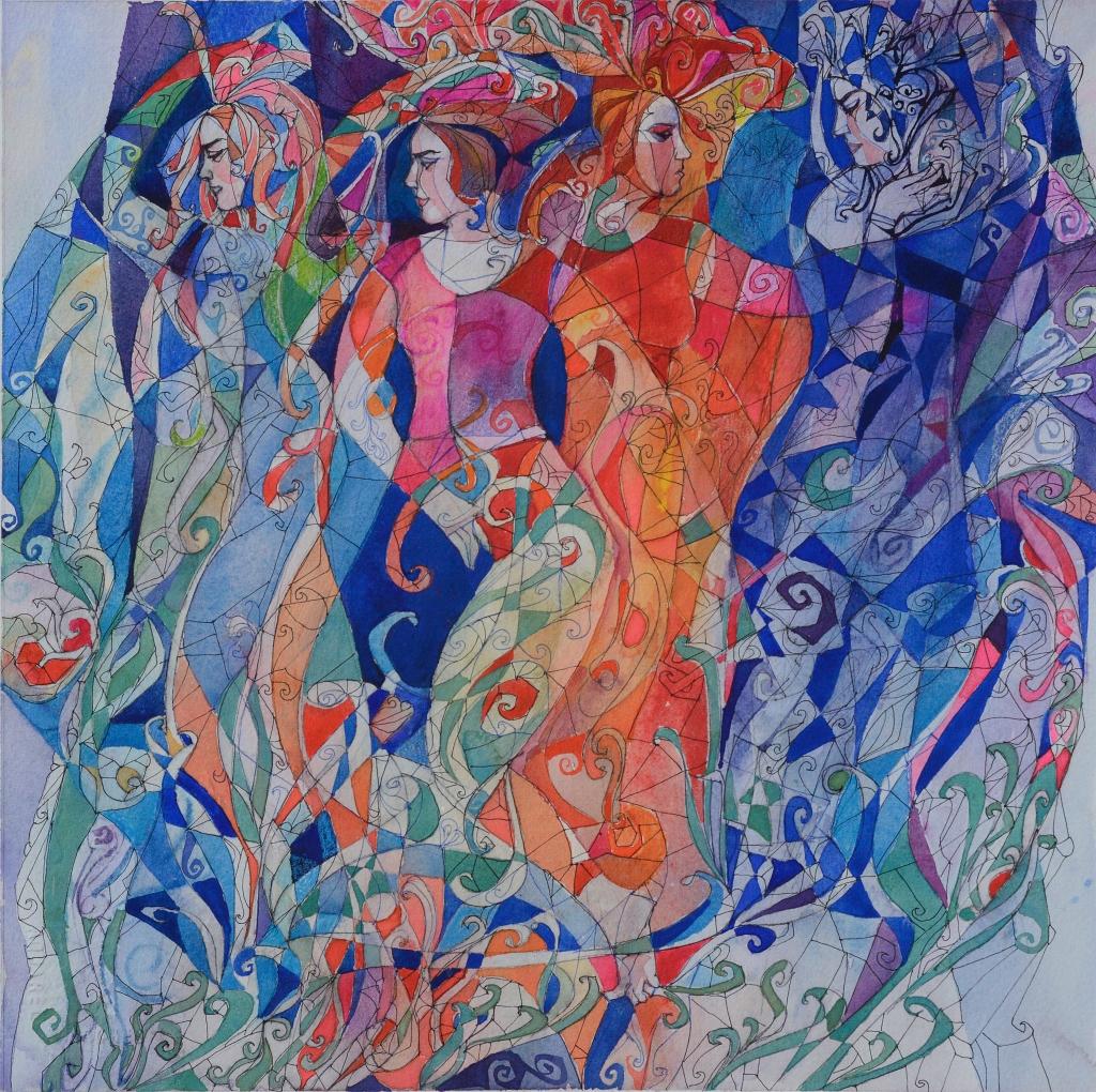 Daud Akhriev original painting