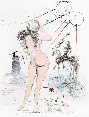 Salvador Dali - Apollinaire Woman, Horse and Death