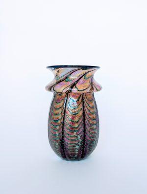 David Lotton - Threaded Web Vase - Pink