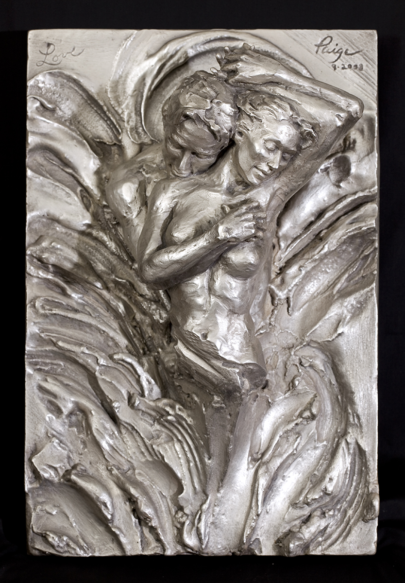 paige bradley bronze sculpture love