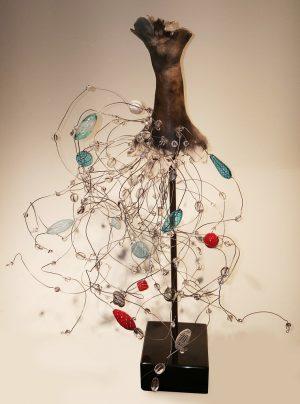Estella Fransbergen - Sawdust Fired Torso with Moreno Glass