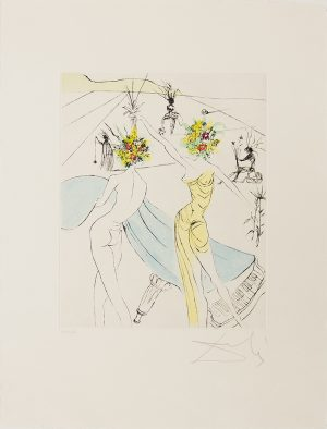 Salvador Dali - The Hippies - Flower Women