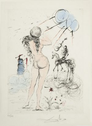 Salvador Dali - Apollinaire - Woman, Horse and Death