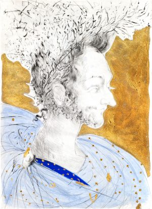 Salvador Dali - Ronsard Portrait of Ronsard