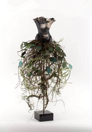 Estella Fransbergen - Sawdust Fired Torso with Leaf Impression