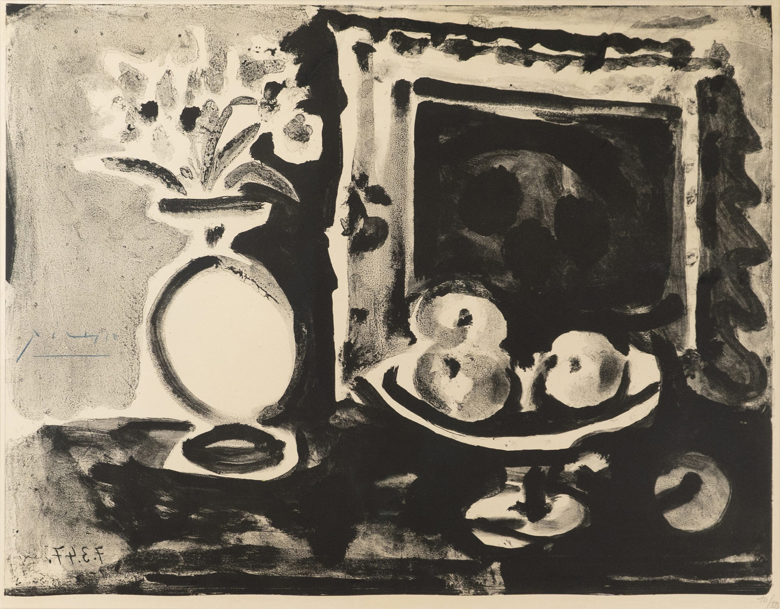 Large Still Life with Fruit Bowl