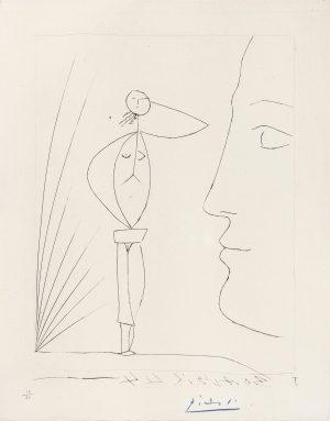 Picasso - Untitled: Profil et Femme Nue