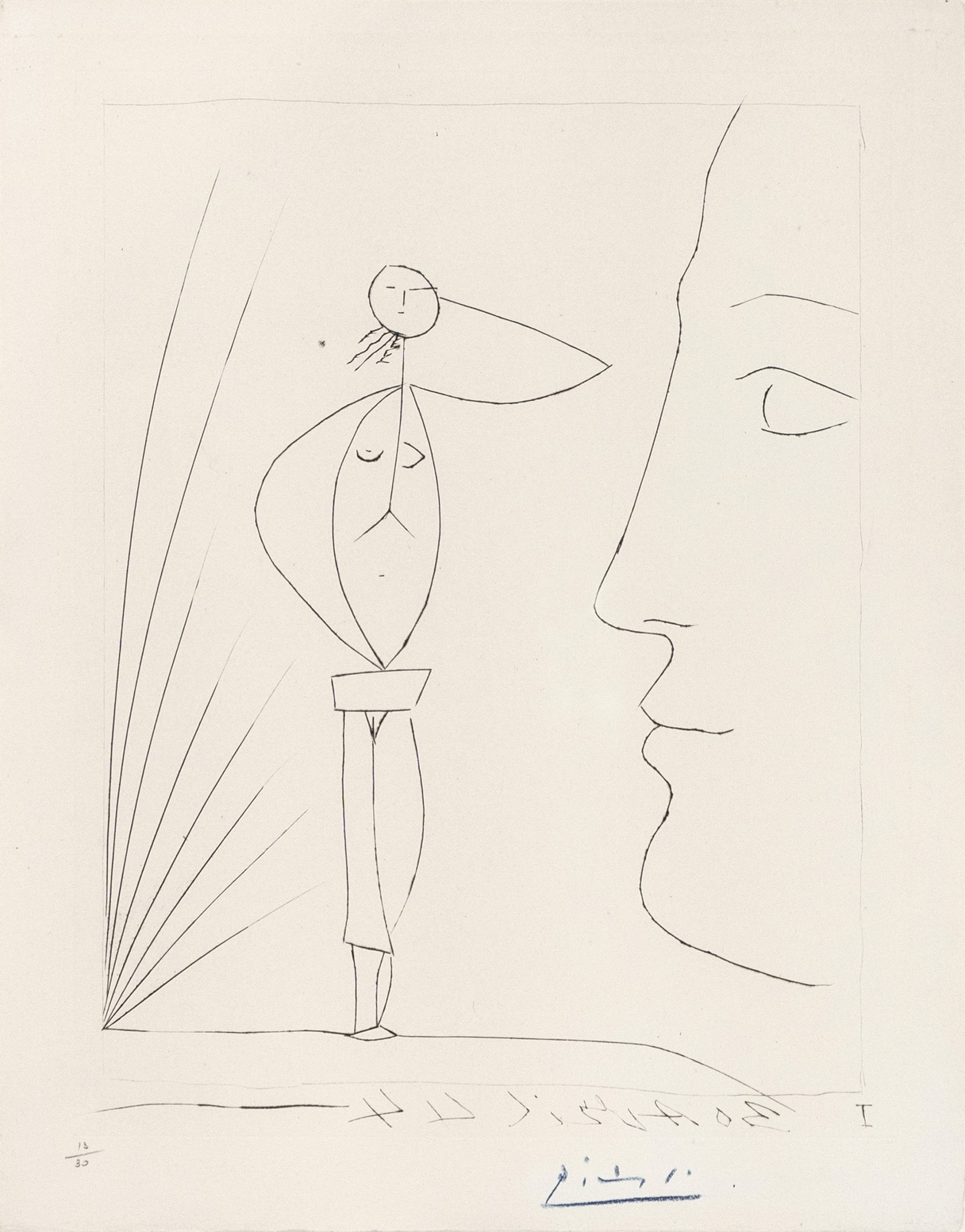 Untitled: Profil et Femme Nue