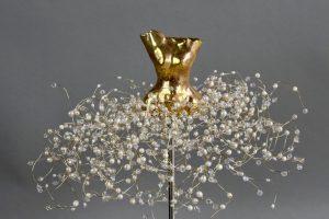 Estella Fransbergen - Clay Torso with Yellow Gold Overglaze