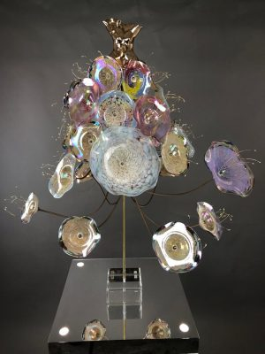 Estella Fransbergen - Cast Bronze Torso with Blown Glass