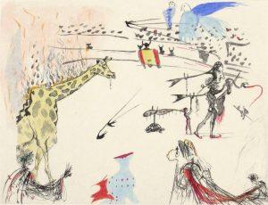 Salvador Dali - Surrealistic Bullfight - Burning Giraffe