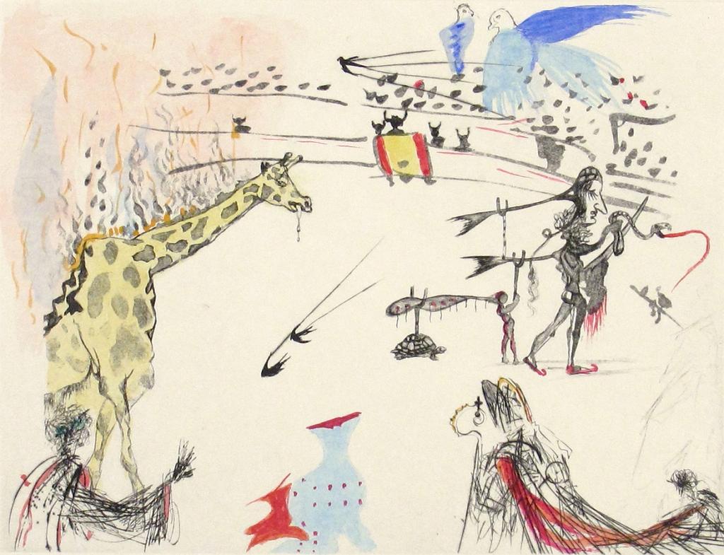 Surrealistic Bullfight - Burning Giraffe
